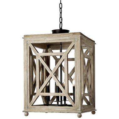 Wood lattice lantern chandelier from Regina Andrew