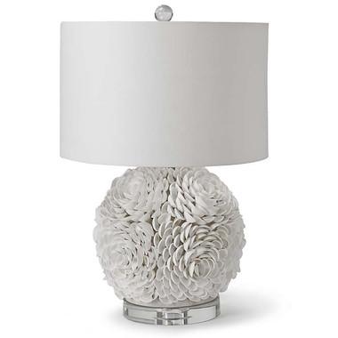 Mosaic seashell sphere lamp from Regina Andrew
