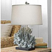 Large blue grey coral lamp from regina andrew