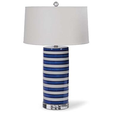 Ceramic striped column lamp from Regina Andrew