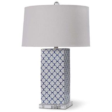 Ceramic quatrefoil lamp from Regina Andrew