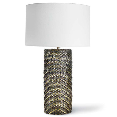Regina Andrew Chain link cylinder table lamp