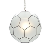 Worlds Away Knox pendant frosted sm
