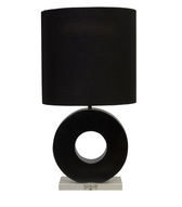 Leslie Blk table lamp from Worlds Away