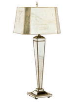 Antique mirror table lamp from Worlds Away
