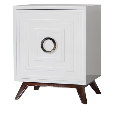 small white lacquered cabinet