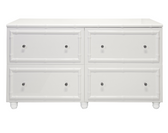 WHITE LACQUER BAMBOO 4 DRAWER DRESSER
