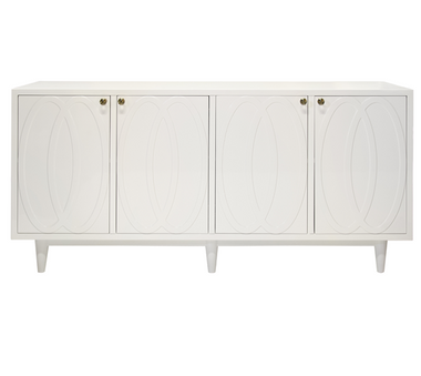 Mathis White Lacquer 4 door buffet