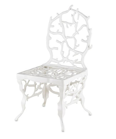 Reminiscent of a coral reef, the Corail Chair is a cast aluminum recreation of life under the sea.