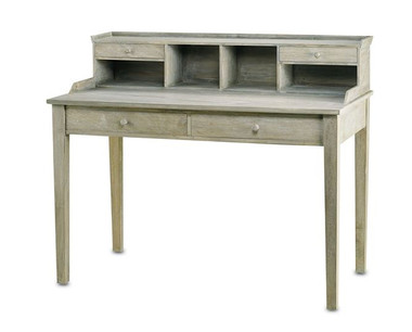 Washed wood in a Distressed Truffle finish makes the Meacham Desk a noteworthy addition to home or office. The Shaker inspired design is big enough to hold all your electronic accoutrements and provides ample storage with four drawers and four cubby holes.