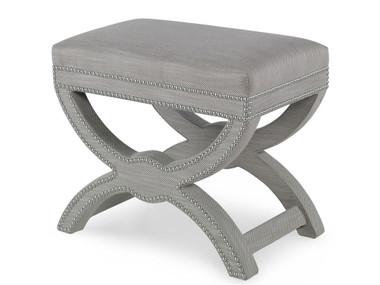 Grey designer ottoman