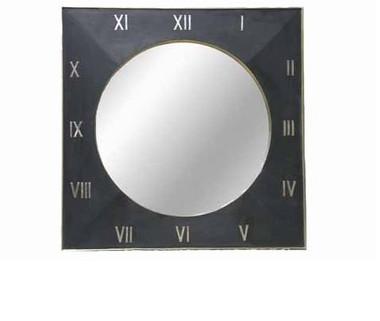 ROMAN NUMERAL CLOCK MIRROR