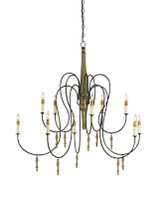Currey & Company Rouleau Chandelier, Large