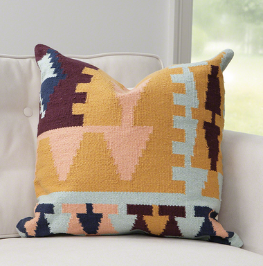 Southwestern pillow professionally designed and filled with goose down