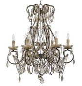 An elegant cecilia chandelier from Regina Andrew.