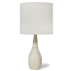 A contessa alabaster table lamp from Regina Andrew.