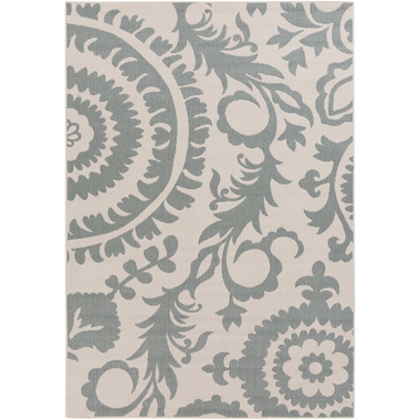 An outdoor rug with an elegant moss alfresco design for your home.
