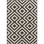 Outdoor rug with an elegant black and beige geometric pattern for your home.