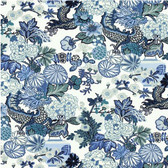 Chiang Mai Dragon is one of Schumacher's best-loved designs--since its introduction in 2006, the fabric has become iconic among our patterns. The modern Chinoiserie motif, which is screened onto rich linen and is also available as a wallcovering, originally came from an exuberant Art Deco block print that was created in the 1920s.