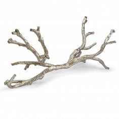 long decorative silver branch
