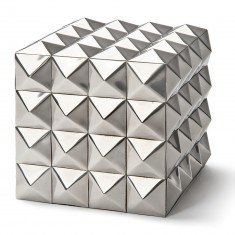 "square 4"" silver modern style box"