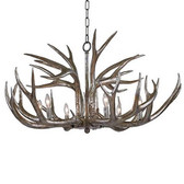 33' Diameter silver leaf finish Antler design  chandelier  Available in February 2016