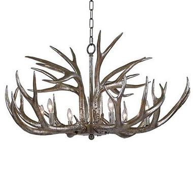 33' Diameter silver leaf finish Antler design  chandelier  Available in February 2016