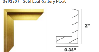 gold leaf gallery float frame