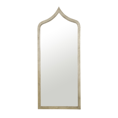 """MOROCCAN STYLE GOLD LEAF IRON MIRROR. COLOR: Gold Leaf  DIMENSIONS: 24""""W X 55""""H X 1""""D"""