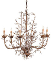 Currey & Company Crystal Bud Chandelier, Medium