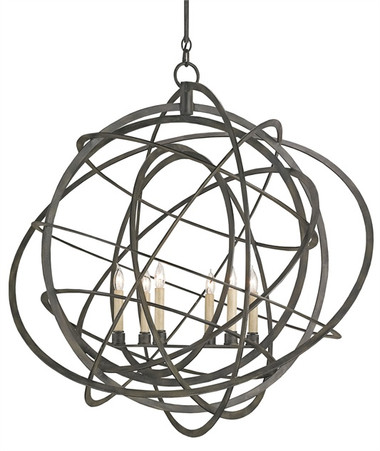 A single atom was the inspiration behind the Genesis Chandelier. The capricious wrought iron frame twists and bends taking a wildly beautiful form. Skillfully finished in Black Iron, the Genesis Chandelier is dramatic and stunning.