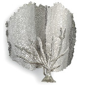 Redefine contemporary style with the Sea Fan Sconce from Regina Andrew Design. With an artist's eye, their assortment skillfully mixes modern with rustic, elegant with casual, romantic with relaxed. They have an eclectic vision that resonates with natural style.Nickel Finish 13.5 W X 14.4 H X 5 D