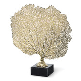 "metal brass sea fan for table top 4"" X 16""x 16"""