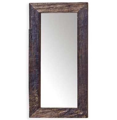 "Reclaimed wood free standing mirror 48"" tall 24"" wide and 4"" deep"