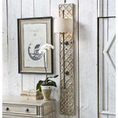 Carved wood dramatic design with a size that creates a substantial presence
