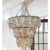 Regina Andrew Silver Glass Leaves Chandelier
