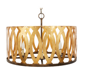 "CINDI GOLD METAL CUTOUT CHANDELIER, 24.5""DIA X 17.5""H"