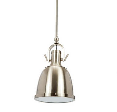 """BRUSHED STEEL CHAPMAN ADJUSTABLE PENDANT 3, 12"""" RODS 10""""Dia. x 30""""H, 42"""" OR 54""""H"""