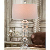 Regina Andrew Clear Glass Ball Lamp with Crystal Base
