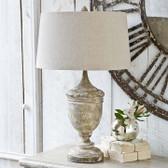Regina Andrew Gesso Wood Vase Lamp