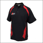 Samurai Classic Polo - Cotton - Black/Red