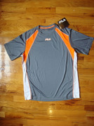 Fila - Men's Performance Shirt - Grey / Orange - M