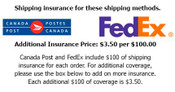 $100 Shipping  Insurance Provided - Per Order