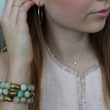 Mid-Size Gold-Filled Endless Hoops. Ask about our ADD ONs.