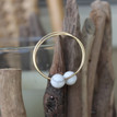 Mid-Size Gold-Filled Endless Hoops with White Howlite.