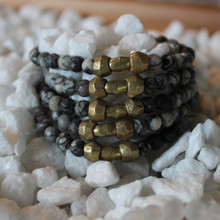 It is all about the STATEMENT, this bracelet stack gives the right pop to any outfit. Web Jasper= Soothing/Alignment, Brass Accents=Natural Good. Stretch Bracelet. 7inches.