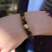 Tiger's Eye|Emotional Balance. Handmolded Brass Accent for natural good. Stretch Bracelet. 7 inches. Limited Quantities.