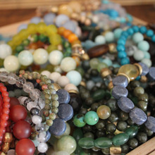 Introducing BRACELET STEALS! This is a selection of 5 random colors of OOAK bracelets. OOAK means (One-Of-A-Kind) bracelets. It is a complete closeout. You can request a color at checkout but all materials are different. We randomly select each color bracelets.