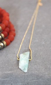 Let These Dreams Necklace inspire greatness with soothing amazonite. Chain adjusts to 24 inches. Chain = Gold Filled