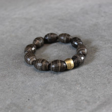 Jasper|Complete Happiness. Handmolded Brass Accent for natural good. Stretch Bracelet. 7 inches. Limited Quantities.
